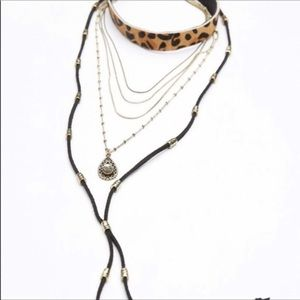 Free people leopard Layered Necklace